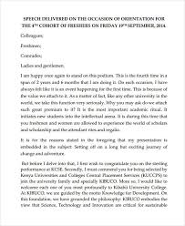 Thanksgiving Welcome Speech 6 Orientation Speech Exles Sles