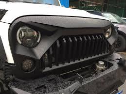 jeep wrangler front grill jk gladiator vader grill altitude jeep