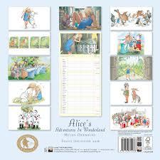 Wall Organiser Alice U0027s Adventure In Wonderland Family Organiser Wall Calendar