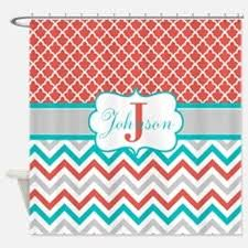 turquoise chevron shower curtains turquoise chevron fabric