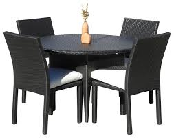 5 piece patio table and chairs 39 round outdoor dining table set darlee santa monica 7 piece cast