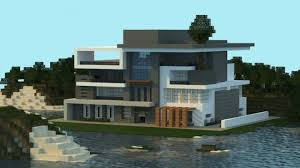 modern style house made in minecraft mincraft pinterest