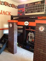 Baseball Bunk Beds Baseball Locker Scoreboard Loft Bed Park Bed Do It Yourself Home