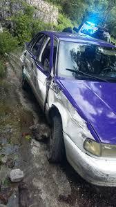 nissan tsuru taxi abandonan un taxi chocado en el u201ccañón de lobos u201d