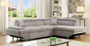 foreman sectional sofa cm6124gy in gray fabric