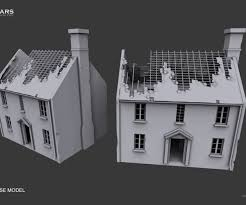 engaging quality enterable medieval house building m d model obj