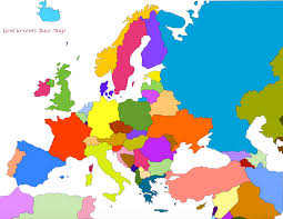 map of euorpe map europe asia major tourist attractions maps