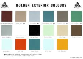 1970 holden paint charts and color codes