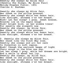 Traffic Control Resume Old American Song Lyrics For Sweetly She Sleeps My Alice Fair