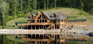 large cabin plans lake lodge log homes cabins and log home floor plans