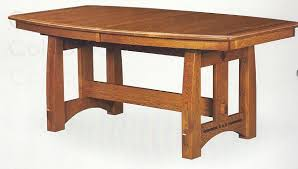 the american bungalow colebrook trestle dining table mission