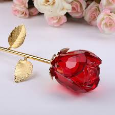 Rose Dipped In Gold Crystal Red Rose Dipped In Gold For Sale On Balloonsale Us