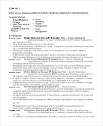 Resume Livecareer Com 48 Simple Marketing Resumes Free U0026 Premium Templates