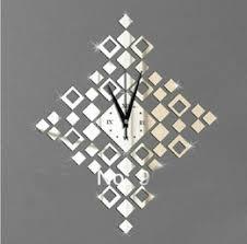 Large Mirrored Wall Clock Large Diamond Wall Clock Online Large Diamond Watch Wall Clock