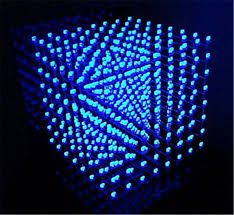 3d lightsquared 8x8x8 led cube white led blue diy kit brand