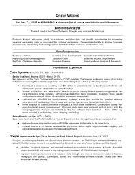 Business Analyst Resume Template Sle Ba Resume Hirescore Co