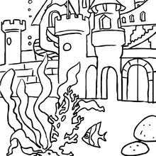 mermaids swimming coloring pages hellokids