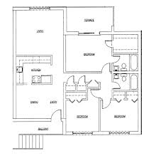 floor plan for a small house 1 150 sf with 3 bedrooms and 2 baths