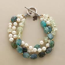 pearl fashion bracelet images Single strand bracelets robert redford 39 s sundance catalog tif&a