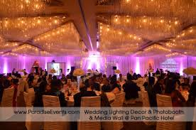 wedding backdrop rental vancouver wedding lighting rental vancouver pan pacific hotel monogram gobo