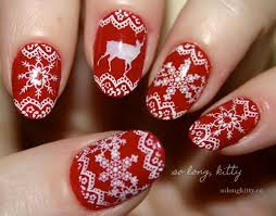 how to try the white and red laces christmas nail art white