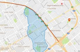 san jose map in usa map san jose flood evacuation zone and road closures