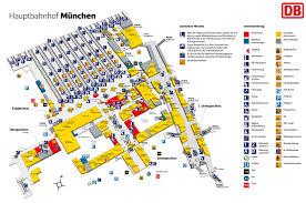 5 Train Map Munich Hauptbahnhof Map Central Train Station