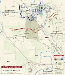 Fort Bragg Map Stones River January 2 1863 Civil War Trust