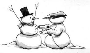 snowman robber funny graphic