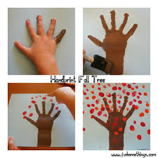 fall crafts for kids handprint fall tree fun home things