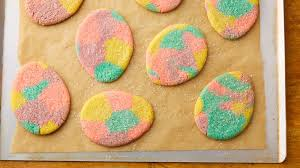 sugar easter egg marbled easter egg sugar cookie cutouts recipe bettycrocker