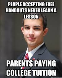 College Guy Meme - the worst guy everybody knows the college conservative