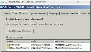 opsmgr sample template for a sql server 2008 database summary
