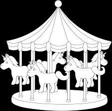 carnival carousel line art free clip art
