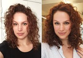curly hair extensions before and after scrivo scrivo salons featured on hair