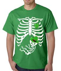 pregnant halloween shirt skeleton st patrick u0027s day irish pregnant skeleton mens t shirt
