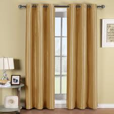 soho gold grommet blackout window curtain panel 96 inch long panel