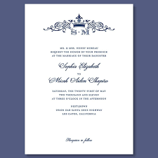 royal wedding invitation crown monogram wedding invitation formal traditional invitation