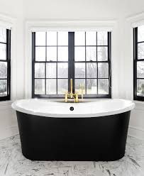 Bathroom Bay Window Bathroom Bay Window With Black Freestanding Tub And Gold Gooseneck