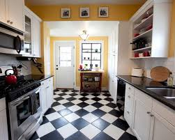 black and white linoleum houzz