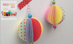 christmas crafts easy paper bauble how to youtube