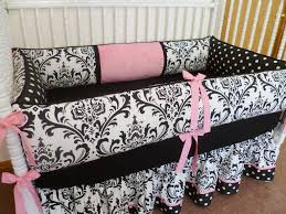 Pink And Black Crib Bedding Sets Black And White Crib Bedding Is The Smart Choice
