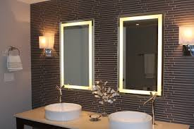 Linear Gray Glass Tile Backsplash Contemporary Bathroom - Linear tile backsplash