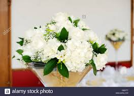 white floral arrangements wedding reception white floral arrangements decorating tables