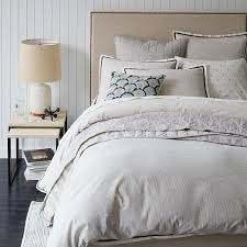 Upholstered Nailhead Headboard by Tall Upholstered Nailhead Bed Natural West Elm