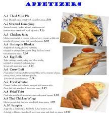 baan cuisine baan restaurant menu menu for baan restaurant fort