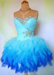 ombre blue short mini prom dresses 2015 real image lace up
