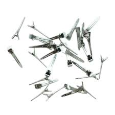 crocodile hair 10pcs metal hair clip metal single prong alligator hair clip