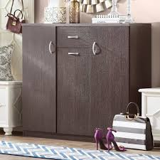 30 pair shoe cabinet willa arlo interiors wood 30 pair shoe storage cabinet reviews