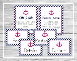 nautical baby shower table signs printable baby shower table